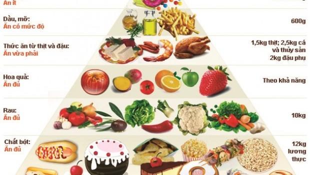 Tìm hiểu về tháp dinh dưỡng cho người cao tuổi